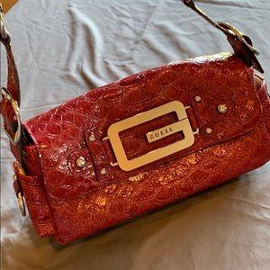 Guess handbag. Red Croc look